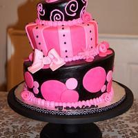whimsical pink & black