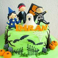 Halloween cum birthday cake by Joanne Fam