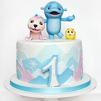 cake for the baby on his first birthday