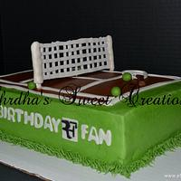 Tennis Cake for an RF Fan!