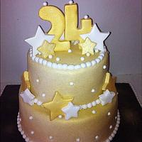 24 Karat Gold Birthday Cake