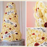 5 Tier Cherub Wedding Cake