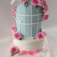 Birdcage Rose Cake