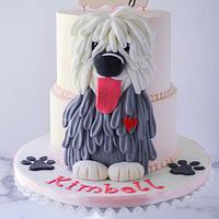 Old English Sheepdog Birthday Cake