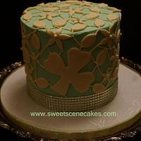 St Patricks Day Bridal Show Lace Cake