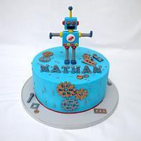 Robot Cake! by Natalie King