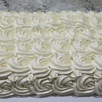 Rosette Swiss Meringue Buttercream Lemon WASC cake