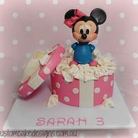 Minnie Plush Toy Cake