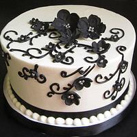 Black and silver bridal shower