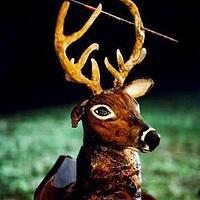grooms cakes -3D Deer Head