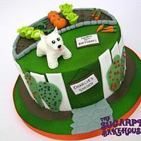 70th Birthday Garden Cake