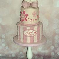 Quilling and crochet baby cake