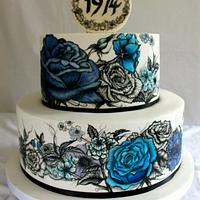 Hannah & Daves 40th birthday cake