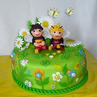 Beetles cake