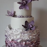 Purple orchids wedding