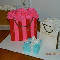 VS, Gucci, Tiffany and Coach cakes by Maureen
