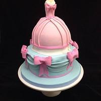 Cinderella gown dress cake