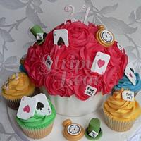 A pretty Mad Hatter cupcake order!