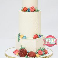 American cake decorating pomegranate cake