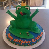 Frog Prince Cake by Carrie