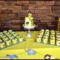 Baby Block Mini Cakes