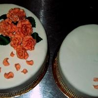 wedding cake / roses by wigur