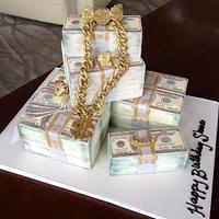 Benjamins + Bling Cake