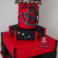 Wedding cake oriental style