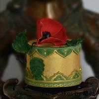 Gold & Poppy - Indian Vintage Cake