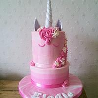 Pink Ombre Unicorn 🦄