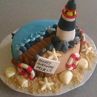 Lighthouse Cake for Miki