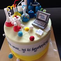 Cake for a chemistry engineer