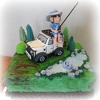 The fisherman and his Jeep cake