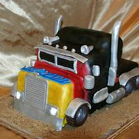 Big Rig Cake with real working lights