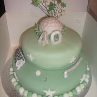 Golf cake  by Tracey