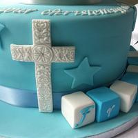 Christening bootie cake