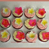 Frangipani Cupcakes for a Mum's 65th