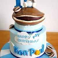 Doraemon with Giant Dorayaki! by Paisley Petals Cakes