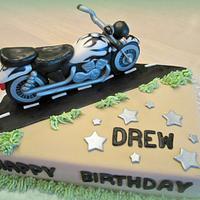 Drew's birthday cake by srkcakelady