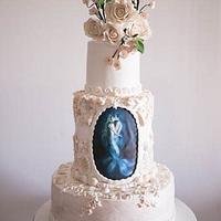 The Mer Couple A Beach Theme Wedding Cake