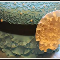 Blue Ruffles by Jessica Chase Avila