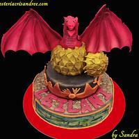 red dragon cake