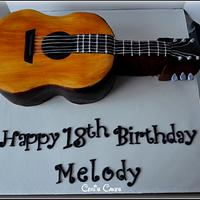 Hand painted Guitar cake