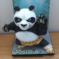 Kung Fu 3-d Carved Gravity Defying Cake