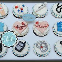nurse + police cupcake