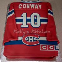 Montreal Canadiens jersey cake