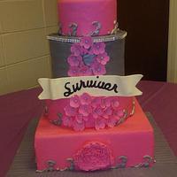 Pink Cancer Survivor Cake