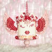 Valentine Unicorn Cake by With Love & Confection | Veronica Arthur