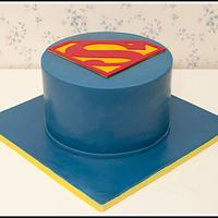 Superman Birthday Cake