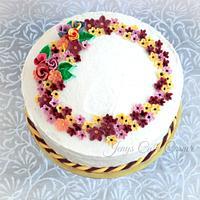 Flowers for Mom- Birthday cake